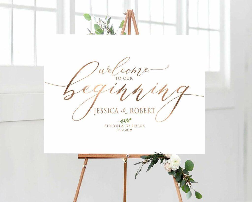 ideas de carteles de bienvenida para bodas